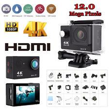 Waterproof WiFi Sport Action Camera Helmet 1080P HDMI 4K Travel Camcorder Car DV