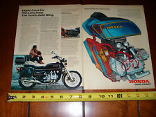 1979 HONDA GOLD WING - ORIGINAL 2 PAGE AD