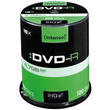 Intenso DVD-R 16x Geschwindigkeit 4,7GB 100er Spindel DVD-Rohlinge NEU 4101156