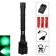 3800Lm 3X XM-L Q5 Verde LED Linterna Montura Caza Luz Rifle Lámpara 3X18650