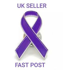 NEW Purple Ribbon Awareness Pin Ending Domestic Violence, Courage, Survival