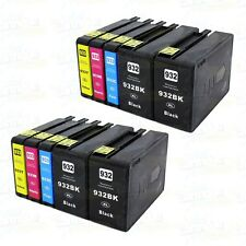 10PK HP 932XL 933XL Ink For HP Officejet 6100 6600 6700 7110 7510 7512 7610 7620