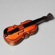 Limoges France Violin Handpainted Trinket Box
