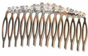 CLEAR AB Crystal Hair Comb Swarovski Crystal Elements