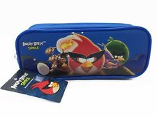 Angry Birds Royal Blue Pencil Pouch Zippered Pencil Case Authentic Bag