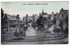 PARIS FRANCE PC Postcard SQUARE Musee de Cluny 1910 French POSTMARK Cancel STAMP