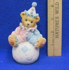 Cherished Teddies Wally Figurine Youre The Tops With Me Clown Bear on Ball 1995