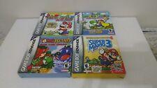 Super Mario Advance Set 1 2 3 4 complete in box CIB gameboy yoshi bros retro