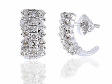 Classy 1.53 Cts Round Brilliant Cut Pave Diamonds Stud Earrings In Fine 14K Gold