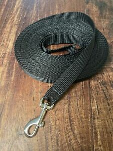 Hunde Schleppleine 10m Black 20mm mit Handschlaufe