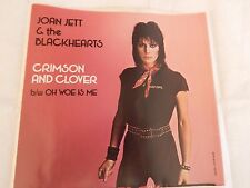 """Joan Jett """"Crimson and Clover"""" PICTURE SLEEVE! NEW! MINT! ABSOLUTELY PERFECT!!"""