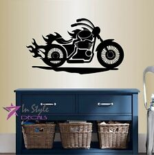Vinyl Decal Motorcycle Bike Moto Sports Riding Biker Extreme Wall Sticker 189