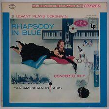 GERSHWIN: Rhapdoy in Blue LEVANT Columbia 2-Eye Stereo  CS 8641 LP NM