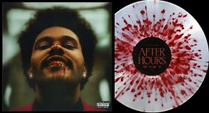 WEEKND LP After Hours SPECIAL EDITION CLEAR with RED Splatter VINYL ultra limite