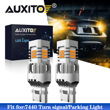 AUXITO 7440 Anti Hyper Flash Amber LED Turn Signal Light Yellow 7441 W21W 7440A