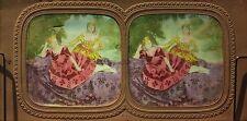 Deux belles femmes Robe ModePhoto E. L. Diorama Stereo Vintage Albumine ca 1860