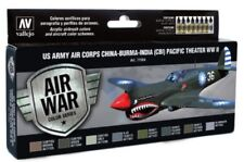 Vallejo VLJ-71184 US Army Air Corps Pacific Theater WWII Model Air Paint Set