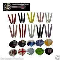 60 Standard Darts Flights & 60 Nylon 2ba Stems Shafts by Darts Supplies Shop