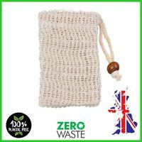 Natural  Soap Bar Saver Bag Sisal 🌿 Exfoliating Sponge Pouch Mesh Net ECO 🌱 UK