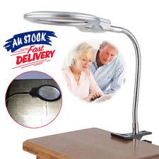 LED-illuminated Magnifying Metal Hose Glass Loupe Desk GO Clip-on Magnifier