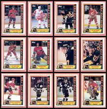 1989 Topps Hockey NHL Card Insert Sticker Set of 12 All Stars 89-90 Gretzky