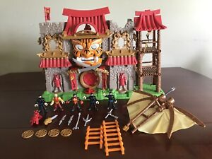 Fisher Price Imaginext Samurai Ninja Warrior Castle Playset w/5 Figures + More