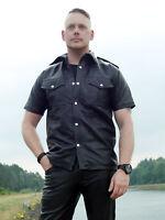 Lederhemd California Ledershirt Leder Hemd Echtes Leder Größe S-5XL