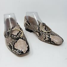 Massimo Dutti Reptile Snakeskin Print Shoes Flats Womens EU 37 US 6.5 New