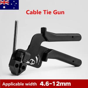Stainless Steel Cable Tie Gun Heavy Duty Fastening Tightener Tensioner Cutter AU