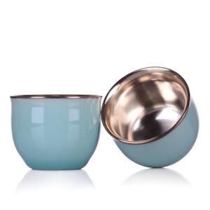 2 Tea cups Longquan celadon 999 fine silver cups celadon inlaid silver cup 35cc