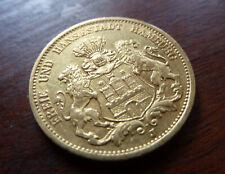 20 Mark Gold Hamburg 1878 J Reichsgold  900