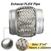 3''x4'' 76x103mm Exhaust Flex Tube Pipe Joint Flexible Clamp Stainless Steel AU
