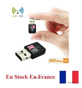 USB Wifi Adapter 600Mbps Drahtlos Dongle Dualband 2.4GHz/5GHz Mini Dongle