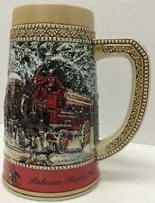 BUDWEISER ANHEUSER BUCSH Beer Stein Mug C-Series 1987 CLYDESDALES Horses