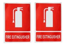 2 X UV FIRE EXTINGUISHER sign Sticker OH&S Work Place Safety Workplace vehicle