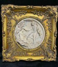More details for reproduction gilt framed italian perfugium regibus classical plaque