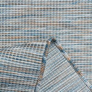 Blue Outdoor Garden Patio Area Rugs Decking Staycation Hot Tub Area Mats Budget