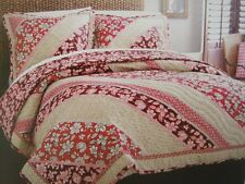 ROXY COCONUT FLORAL TWIN QUILT SET SHEETS SHAM BEDSKIRT PILLOW - 7PC