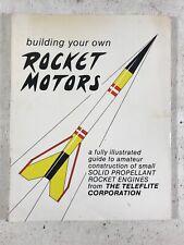 Build Your Own Rocket Motors Black Powder Pyrotechnics