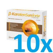 10x Beta Carotene Sun Forte 30 TAB Vegan Beautiful tan carotene carotene Carotin