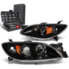 For 2004 2009 Mazda 3 Sedan Blackamber Signal Projector Headlight Lamptool Box Fits Mazda 3