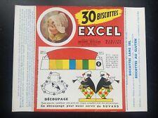 Buvard Biscottes Excel TBE