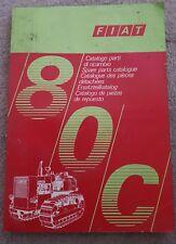 FIAT 80 C Crawler Trattore CATALOGO PARTI
