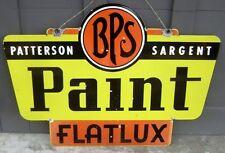 Vintage BPS PAINT SIGN - Flatux Satgent - Porcelain Double Sided - original RARE