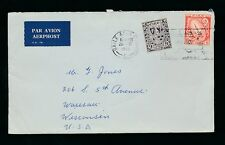 IRELAND 1966 AIRMAIL to USA 9p + 8p