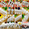 1 yard Vintage Lace Trim Ribbon Embroidered Wedding Appliques DIY Sewing Craft