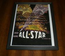 1959 ALL STAR GAME FRAMED PROGRAM COVER COLOR PRINT