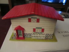 Vintage cardboard Jewelry music box Ballerina in a house TESTED WORKS