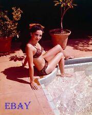 Linda Cristal Glamour Pin Up in bikini on yacht 8X10 Photo