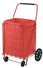 Shopping Utility Cart Folding Jumbo Basket Portable Rolling Grocery Bag Liner